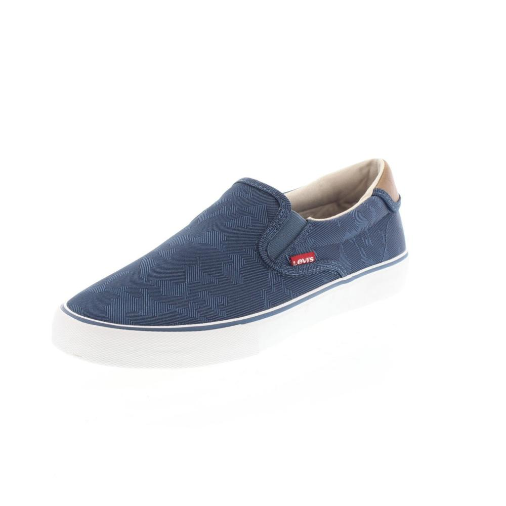levi s justin slip on blue shoes canvas fashion 223287