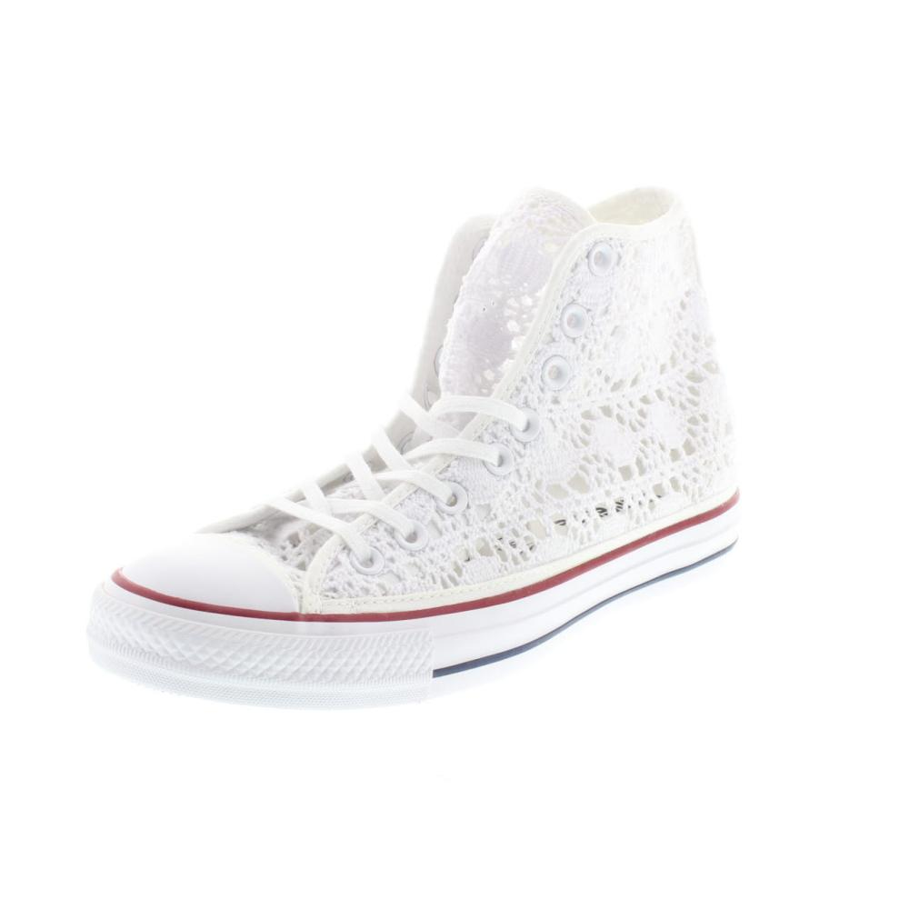 CONVERSE all star high crochet white Shoes canvas woman ...
