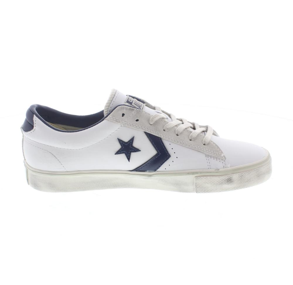 cccf6897ab5 CONVERSE pro leather vulc ox white Shoes tennis man sport shoe 148457C