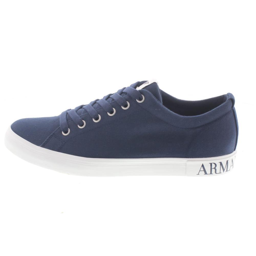 armani jeans sneaker blue shoes canvas man fashion c6540. Black Bedroom Furniture Sets. Home Design Ideas