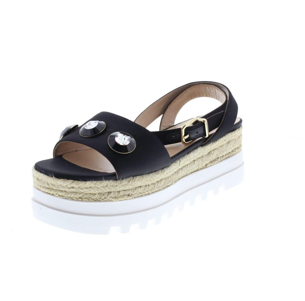 LIU JO pavone nero Scarpe plateau donna sandalo S18069 T0380