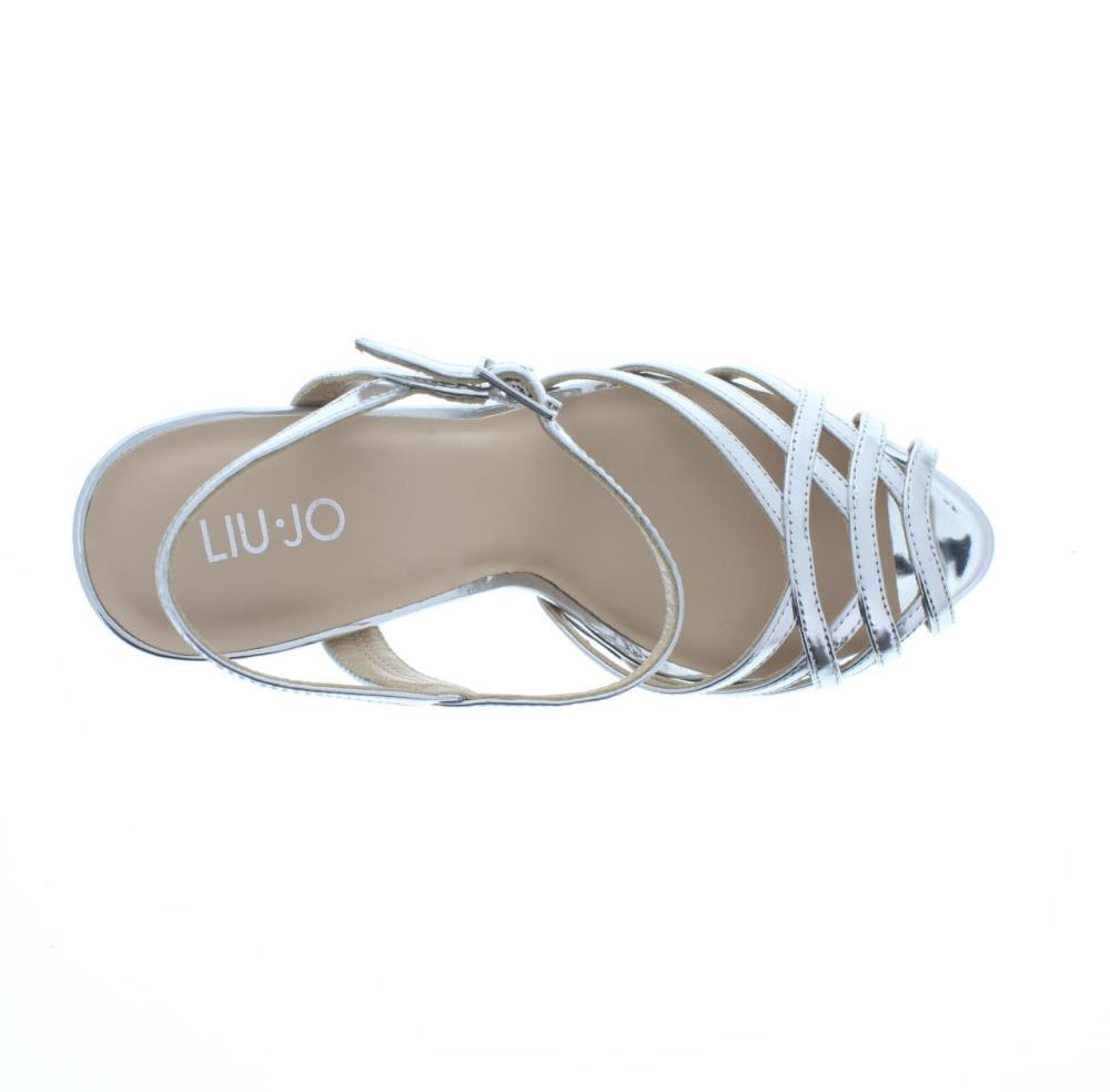 LIU JO SHOES colomba argento Scarpe plateau donna sandalo S18041 P0231 77e490891fb