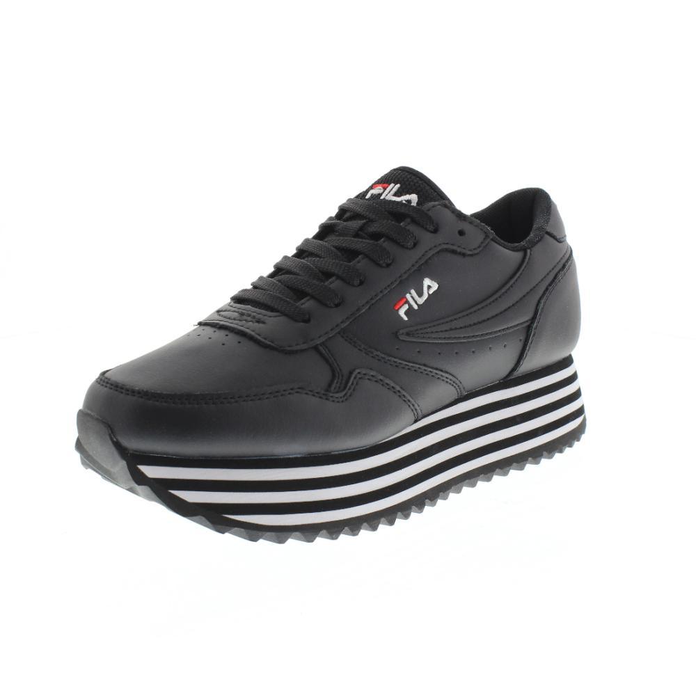 FILA orbit zeppa stripe black Shoes sneaker woman sport 1010667