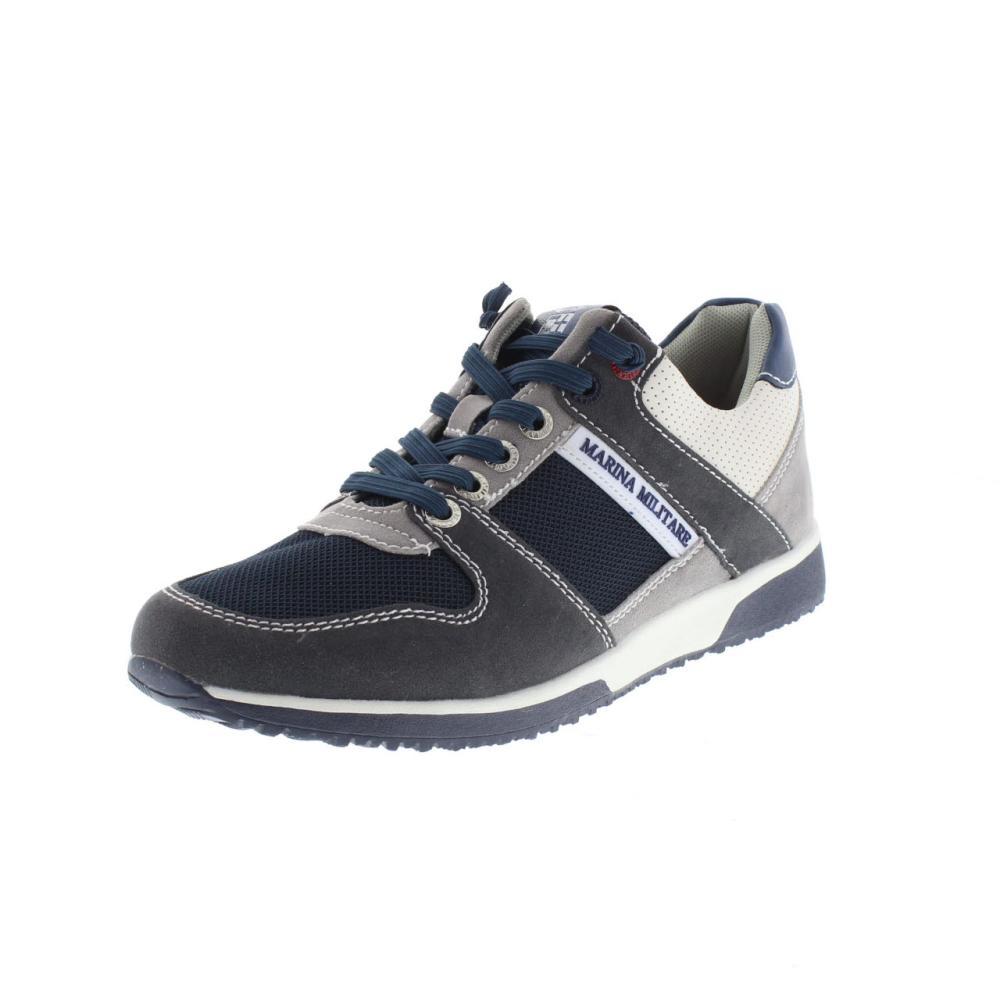 best cheap c7021 947a2 MARINA MILITARE blu Scarpe sneaker uomo moda MM318