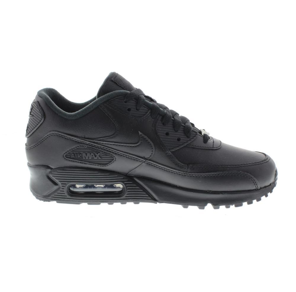 Nike Air Max 90 Leather Herren Schuhe SchwarzSchwarz 302519