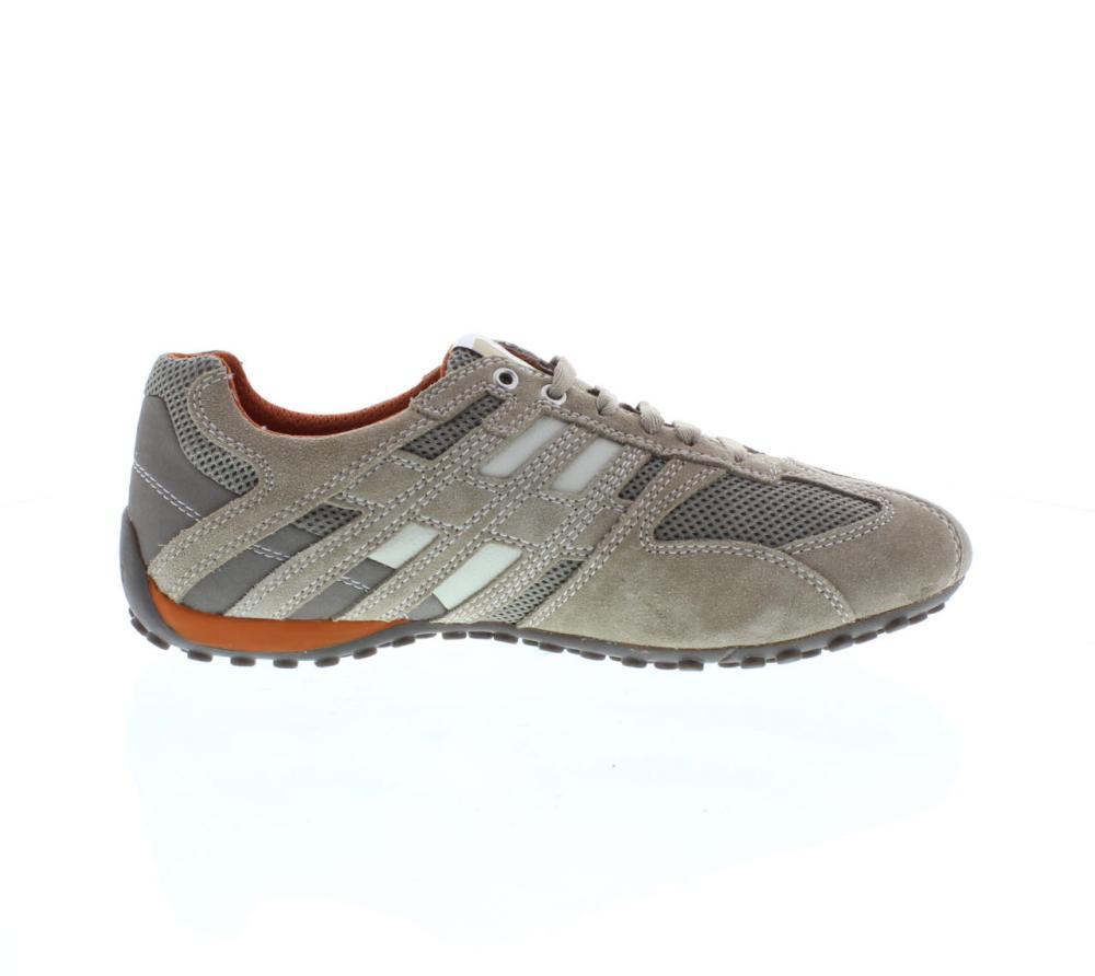100% echt Turnschuhe am besten wählen GEOX snake beige Shoes sneaker man fashion U4207K