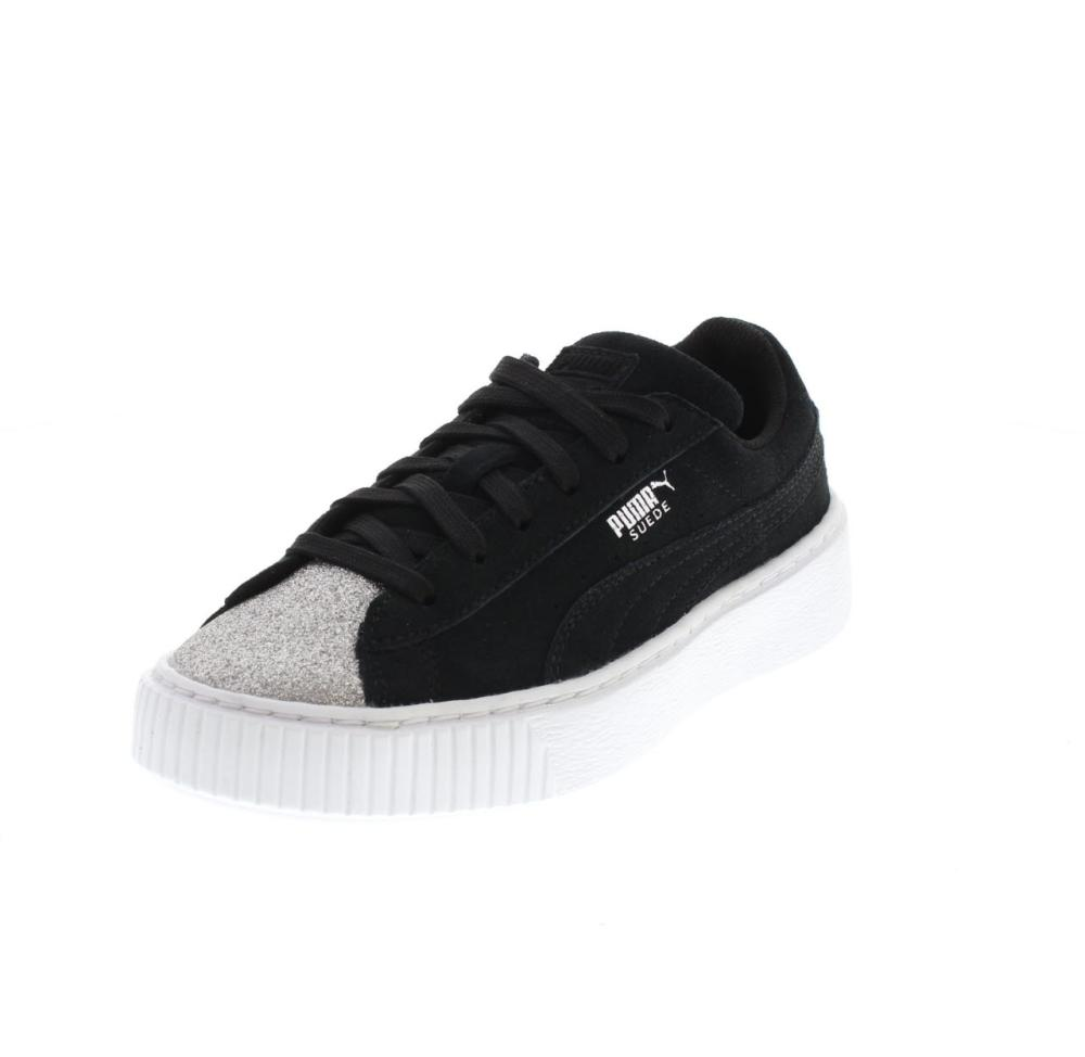 PUMA suede platform glam schwarz Schuhe sneaker mädchen
