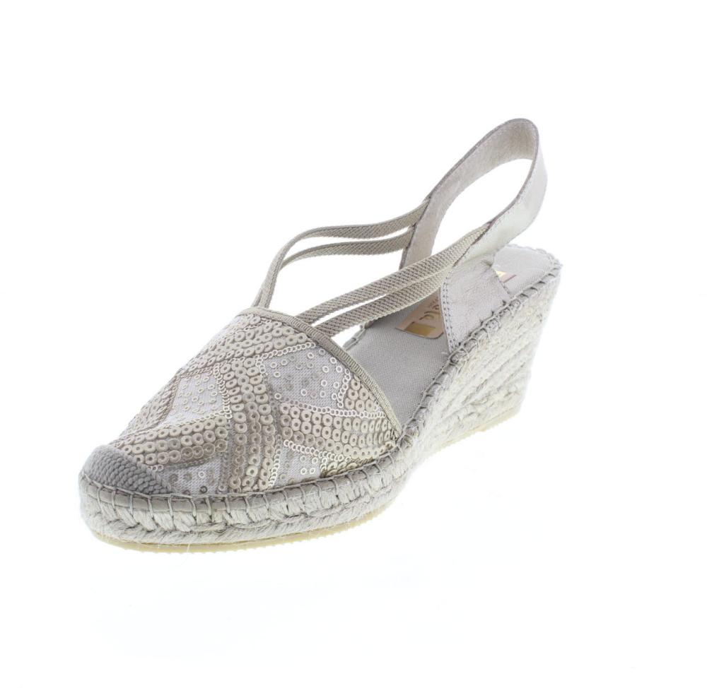 VIDORRETA 18400 lentejuela peter chaussures femmes Sandalo Zeppa